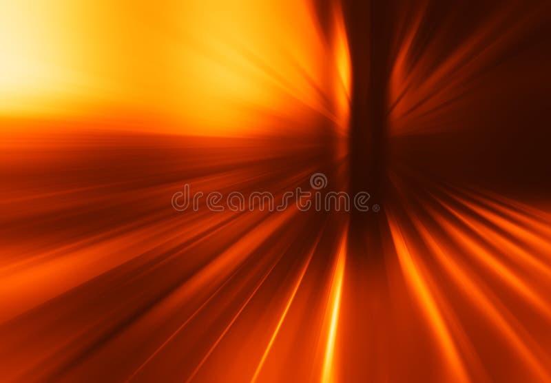 Diagonaler orange Teleportationsexplosionshintergrund stockfoto
