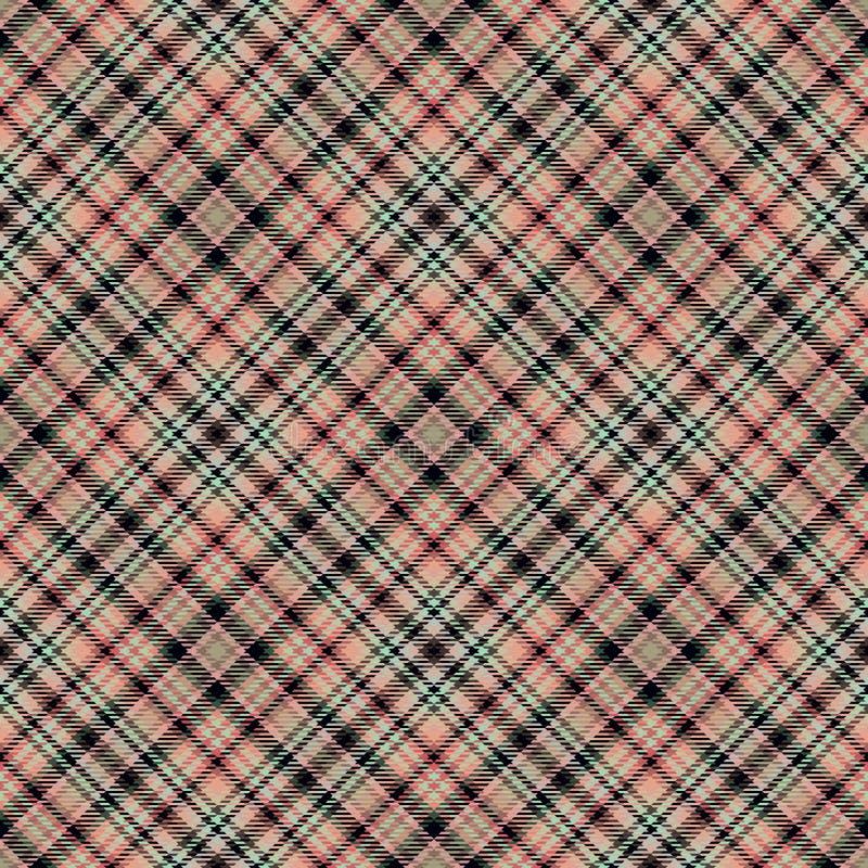 Diagonaler Schottenstoff des Gewebes, Mustergewebe, Beschaffenheit Retro- lizenzfreie abbildung