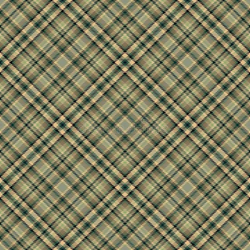Diagonaler Schottenstoff des Gewebes, Mustergewebe, nahtloses Englisch lizenzfreie abbildung