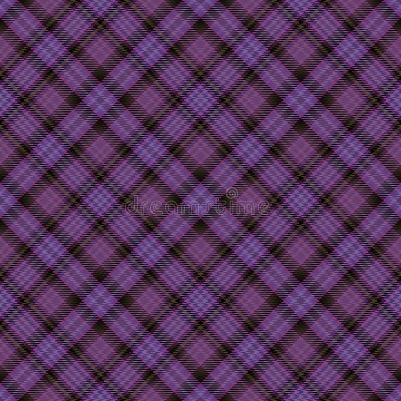 Diagonaler Schottenstoff des Gewebes, Mustergewebe, Plaid nahtlos vektor abbildung