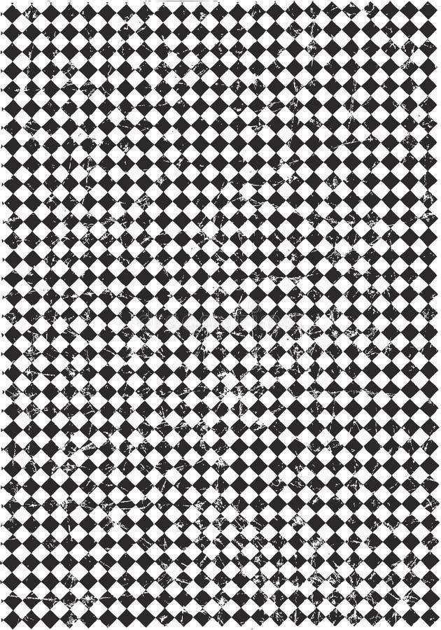 Diagonales kariertes quadratisches Vektor-Muster zerknittert oder Vektor-Hintergrund zerknittert lizenzfreie abbildung