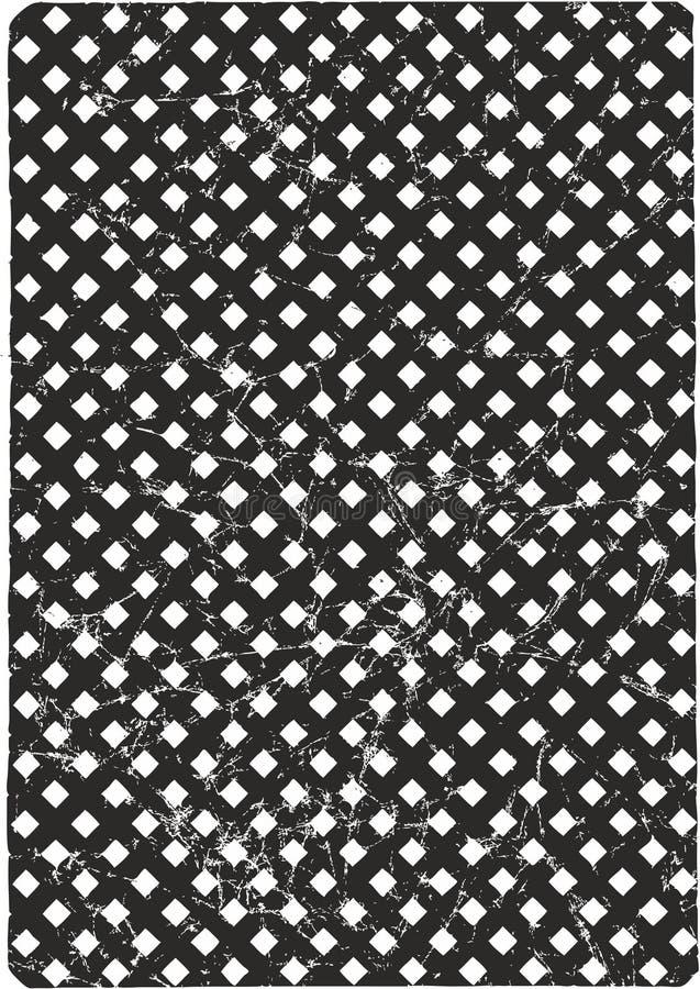 Diagonales kariertes quadratisches Vektor-Schwarz-Muster zerknittert oder Vektor-schwarzer Hintergrund zerknittert vektor abbildung