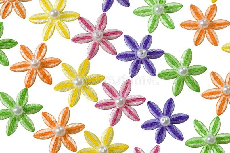 Diagonales Muster der Appliqueblumen lizenzfreie stockbilder
