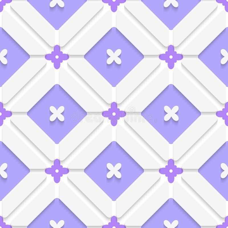 Diagonales purpurrotes floristisches im Rahmenmuster lizenzfreie abbildung