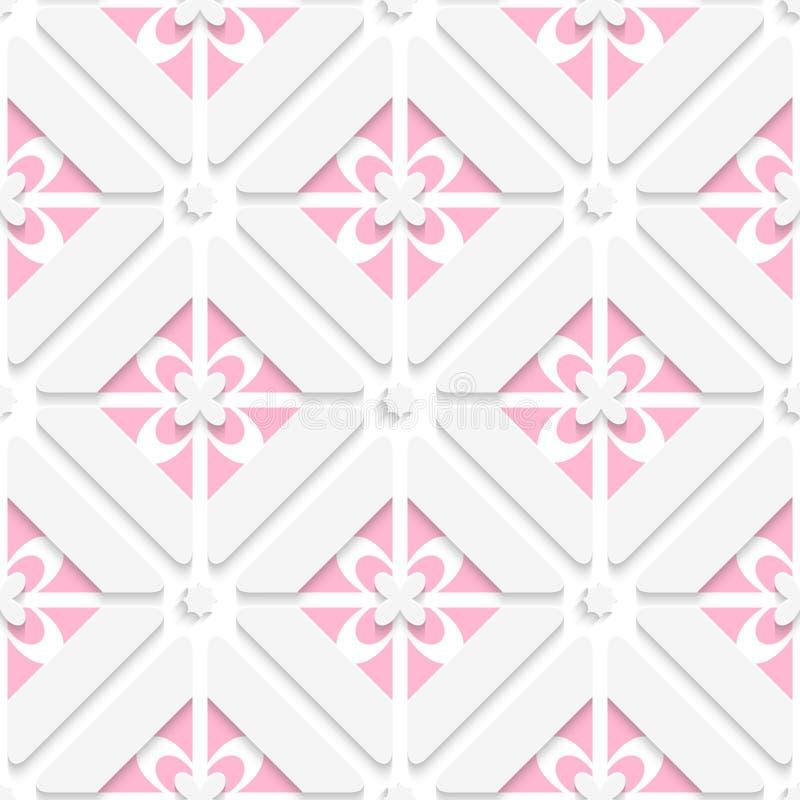 Diagonales rosa floristisches Muster lizenzfreie abbildung