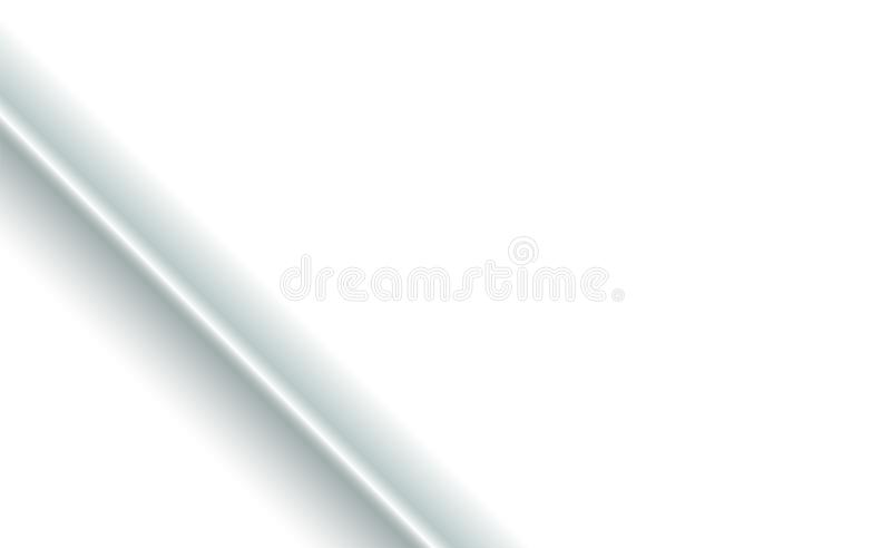 Diagonally fold corner element Background on white paper or fabric. Blank with soft shadows. Copy-space clear template concept for. Presentation and design vector illustration