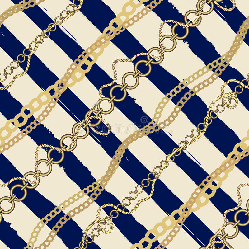Diagonalna szkocka krata w nautycznym stylu paski i ilustracja wektor