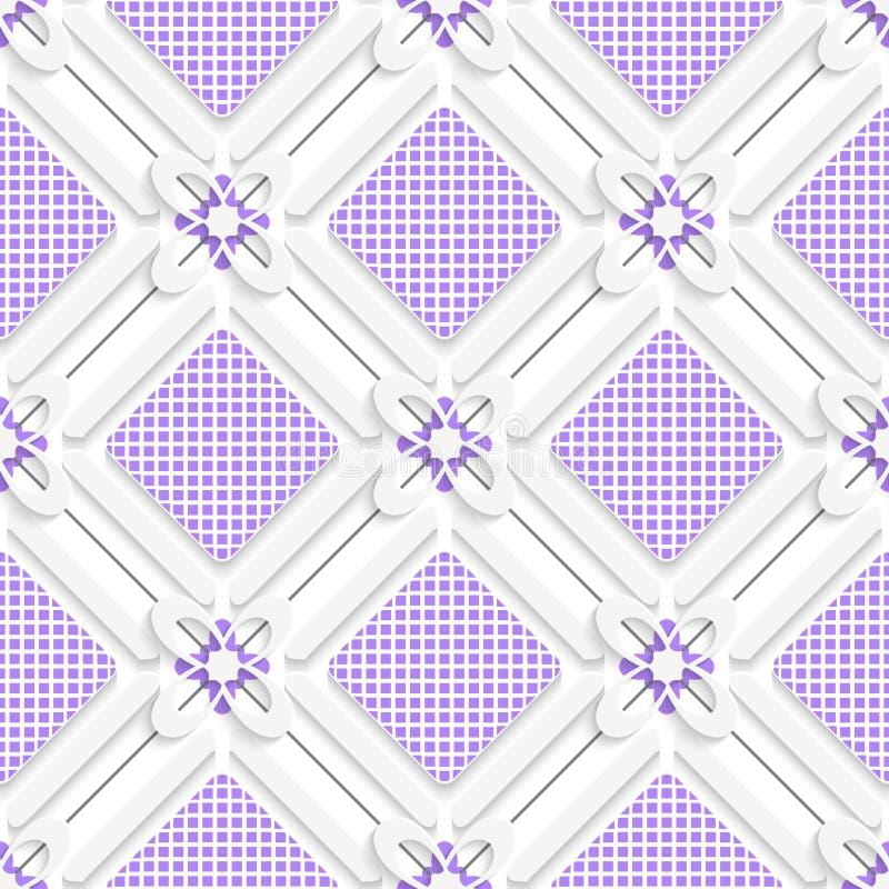 Diagonalne purpury sprawdzać kwadrata wzór ilustracja wektor