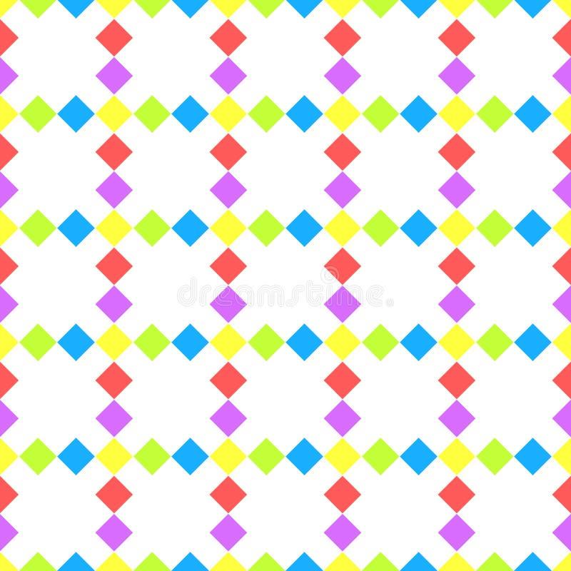 Diagonalny diament obciosuje bezszwowego wzór royalty ilustracja