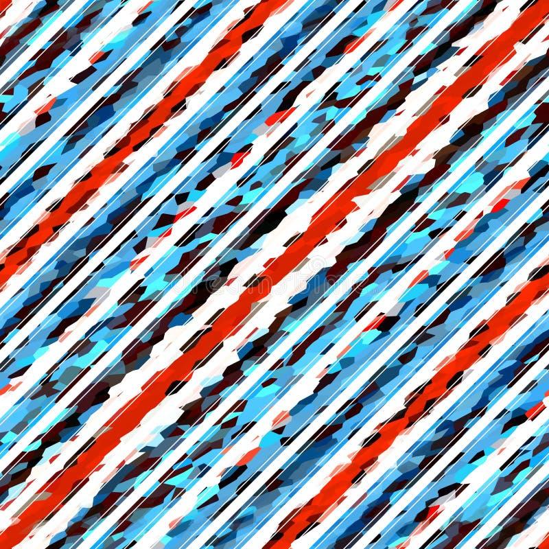 Diagonalny lampas linii wzór bezszwowy, abstrakt ilustracja wektor