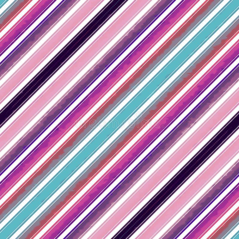 Diagonalny lampas linii wzór bezszwowy, papierowy abstrakt royalty ilustracja