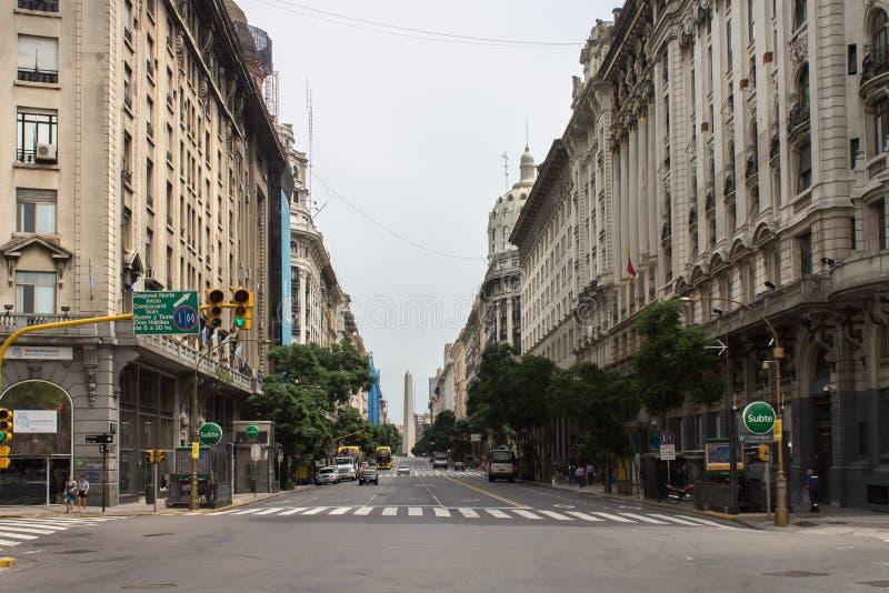 Diagonalny Norte Buenos Aires Argentyna zdjęcia royalty free