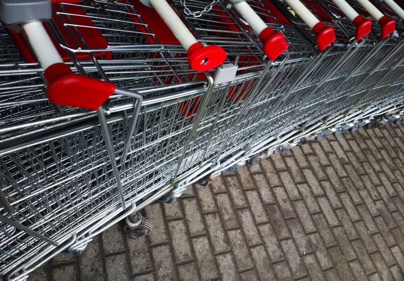 Diagonalny supermarket fury tło zdjęcia stock