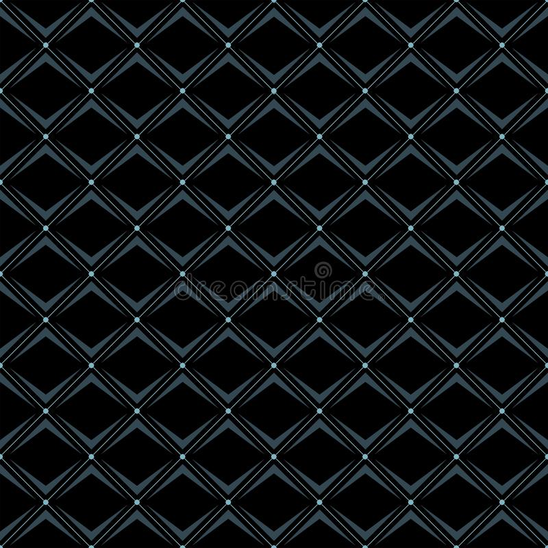 Diagonals seamless designer pattern in three colour. Diagonals seamless designer pattern in three color navy, black and light blue. can be used in textile vector illustration