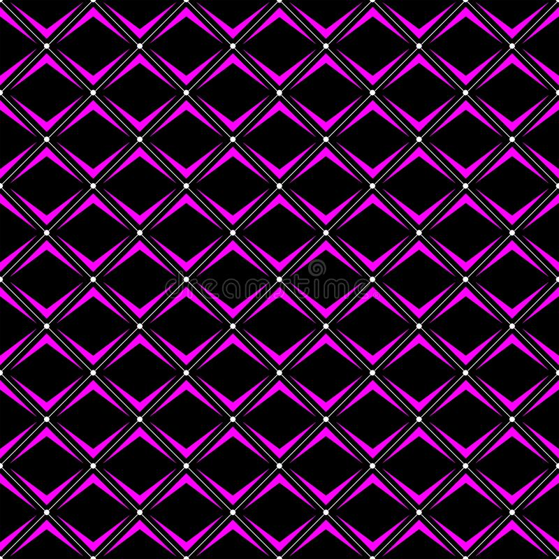 Diagonals seamless designer pattern in three colour. Diagonals seamless designer pattern in three color white, black and pink. can be used in textile vector illustration