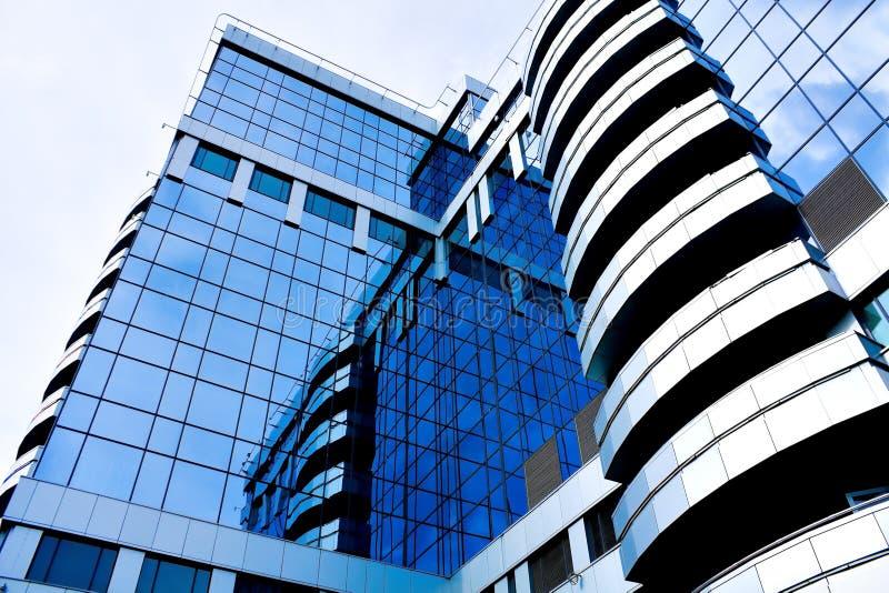 diagonalt modernt kontor för abstrakt blå kantjustering arkivbilder