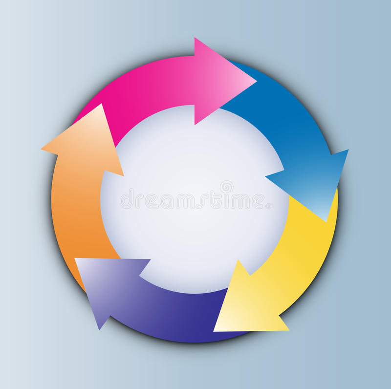 Diagram. Chart, diagram, arrow, big arrow circle stock illustration