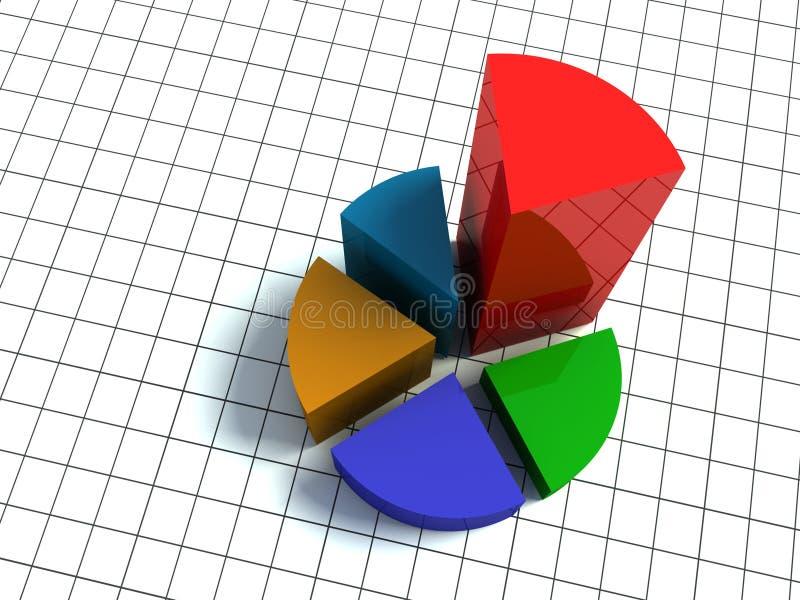 diagram 3d vektor illustrationer