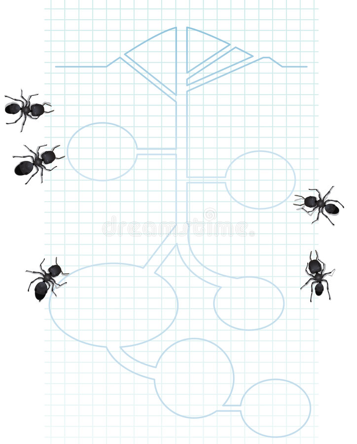 Download Diagram of ants stock vector. Image of hill, graph, illustration - 7134302