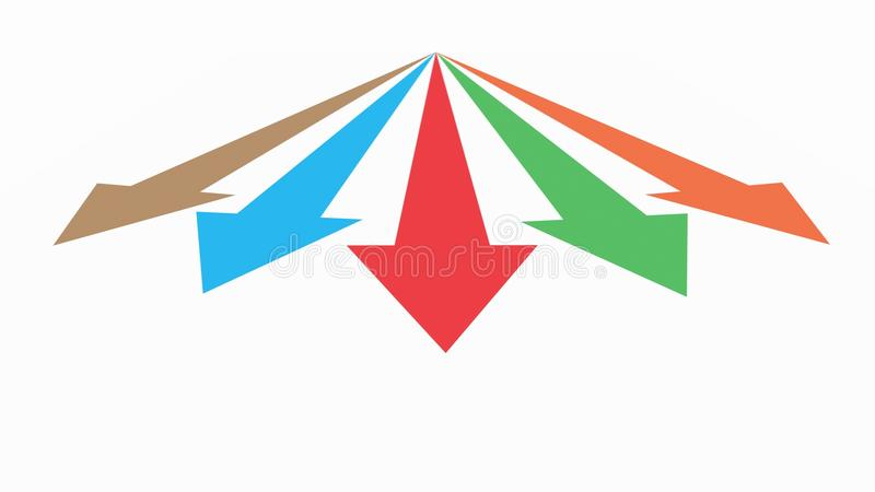 Download Diagram An Arrow Isolated On White Background Stock Illustration - Illustration of corporate, finances: 33427994