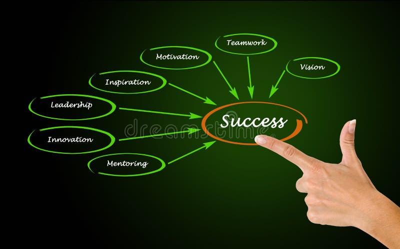 Diagram av framgång royaltyfri illustrationer