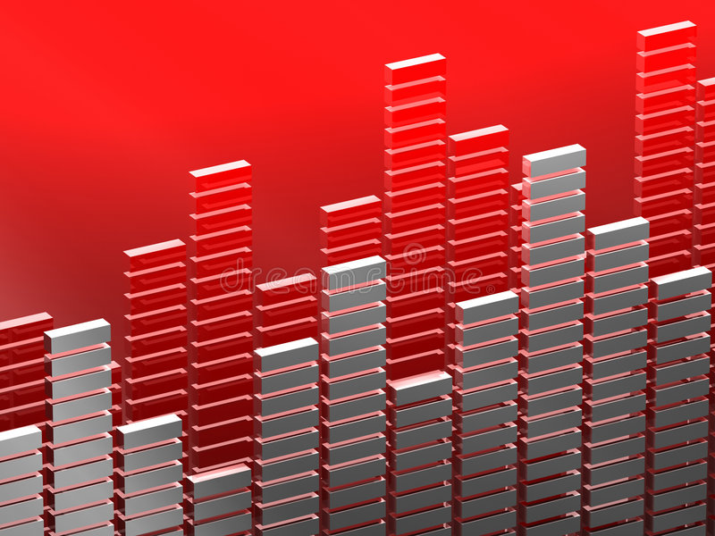 Diagram bar. 3d image of diagram bar suitable for music or finance royalty free illustration