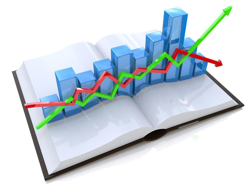 Diagram and book stock images