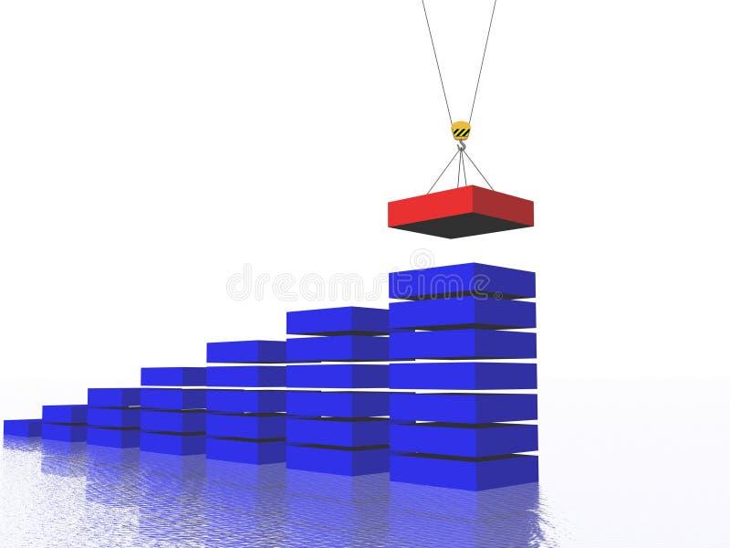 Diagram building. New brick for business diagram building vector illustration