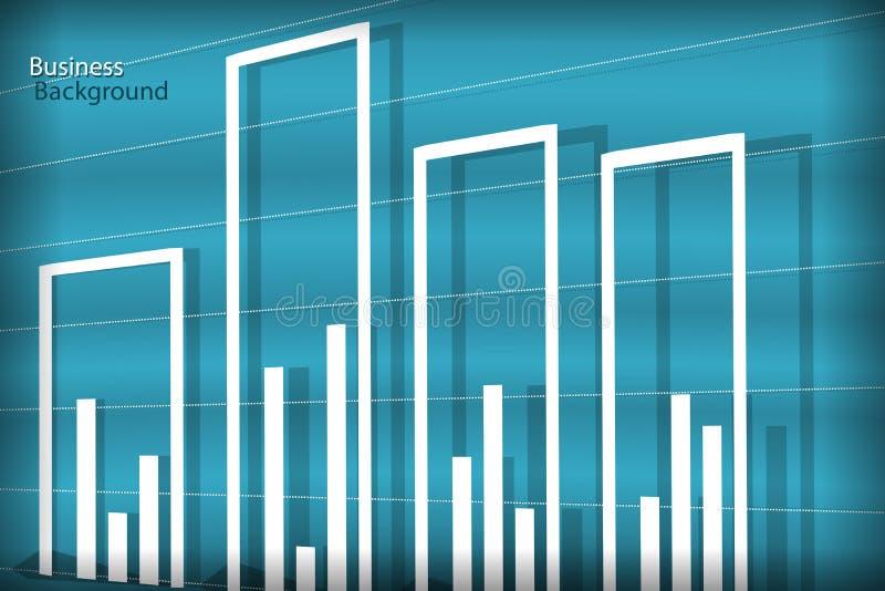 Diagram Business background stock illustration