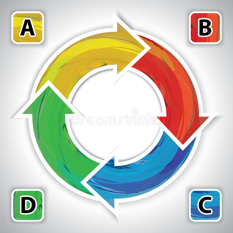 Diagram circle business concepts, diagram plan. Diagram circle business concepts, infographic system, diagram plan, graph method No.01 vector illustration