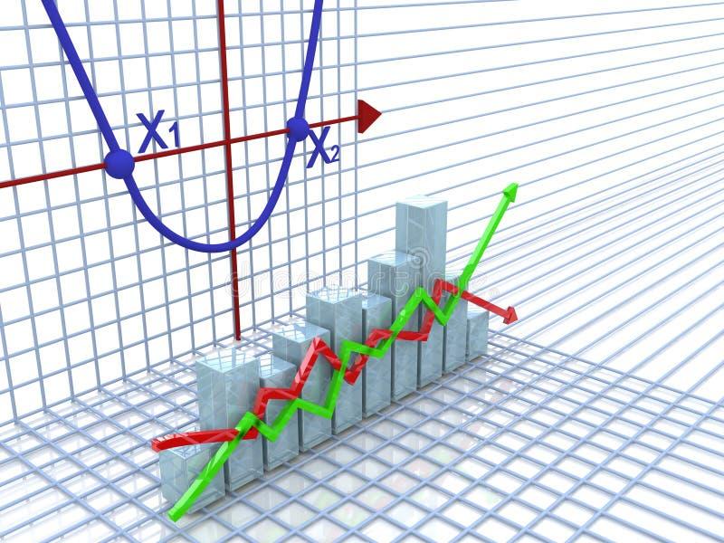 Diagram columns and axes stock photography