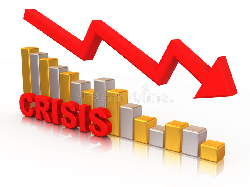 Diagram. Crisis stock illustratie
