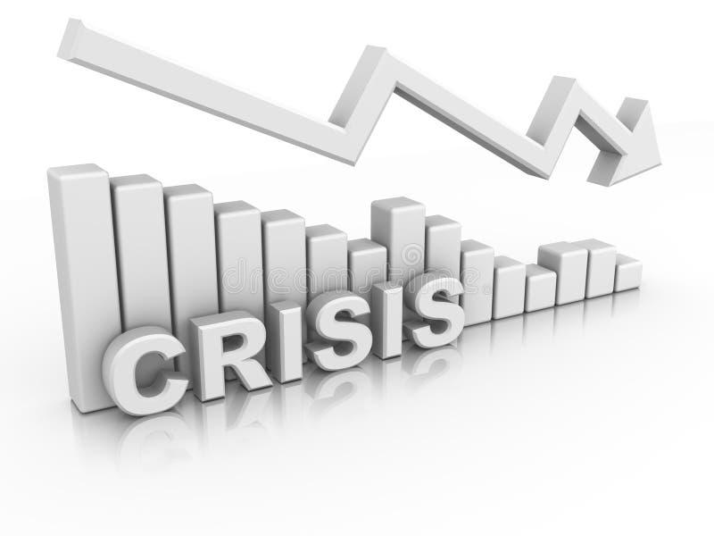 Diagram. Crisis vector illustratie