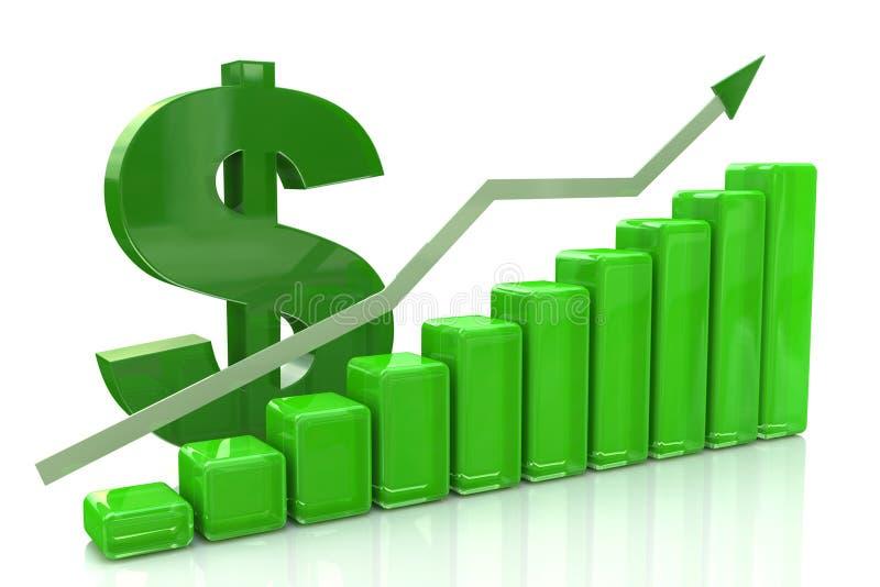 Diagram dollar growth royalty free stock photo