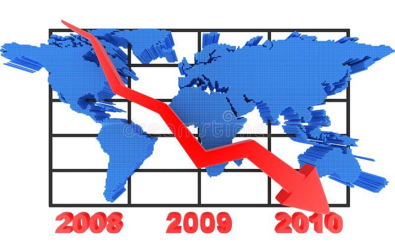 Diagram en wereld royalty-vrije illustratie