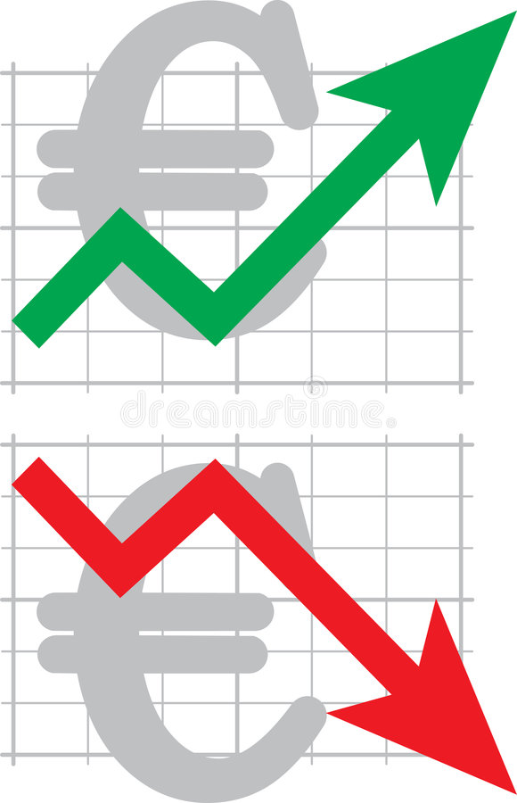 Diagram of an exchange rate. The diagram of an exchange rate. A vector illustration vector illustration