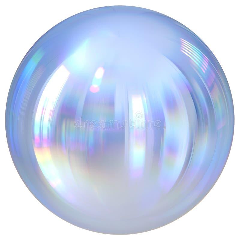 Diagram för cirkel för vit krom för boll för knapp för silversfärrunda grundläggande royaltyfri illustrationer