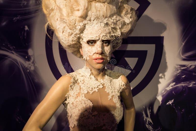Diagram för dam Gaga arkivfoton