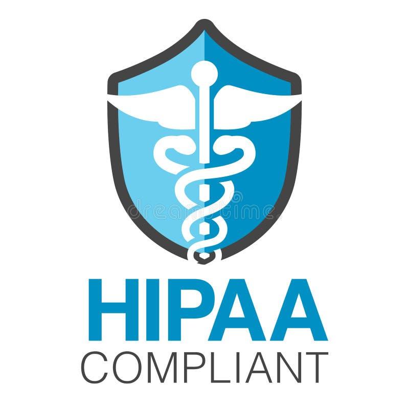 Diagram för HIPAA-överensstämmelsesymbol stock illustrationer