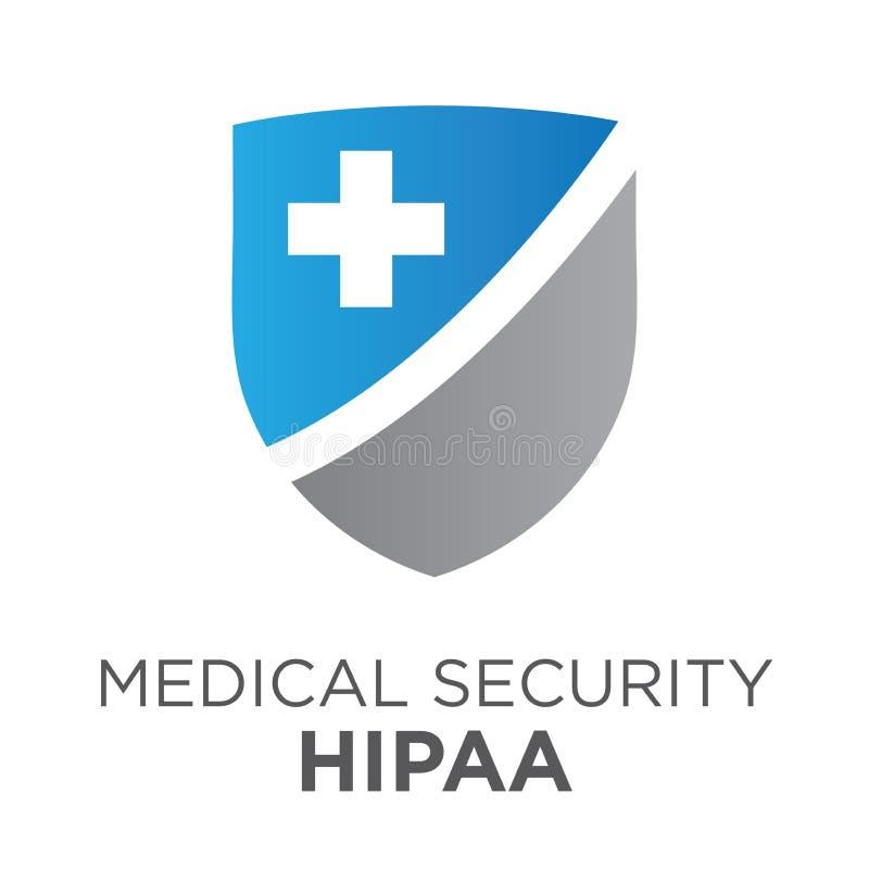 Diagram för HIPAA-överensstämmelsesymbol vektor illustrationer