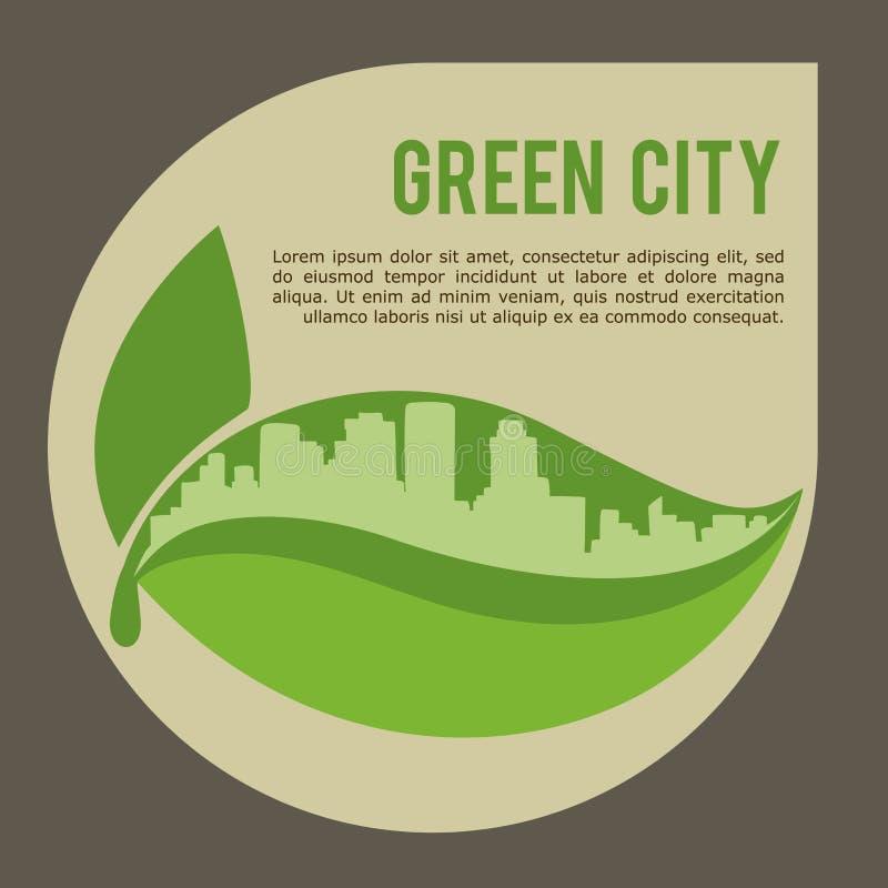 Diagram för illustration eps10 för vektor för Eco stadsdesign royaltyfri illustrationer