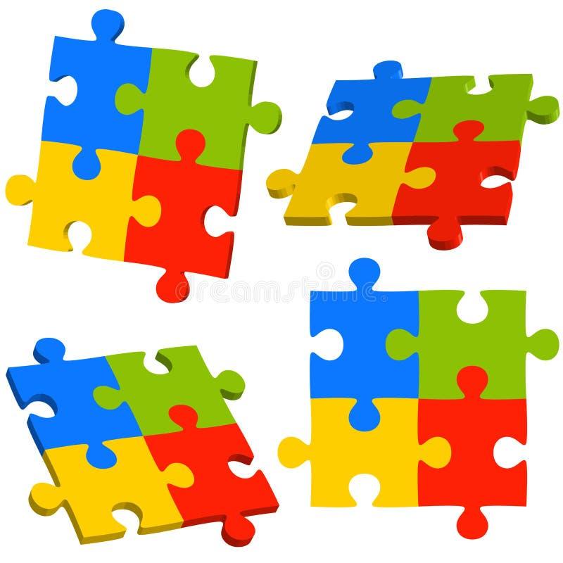diagram för information om teamworkaffär royaltyfri illustrationer