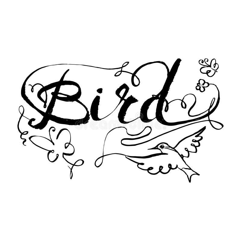 diagram för kolibrifågelsymbol, symbol, vattenfärgteckning, linje, stock illustrationer