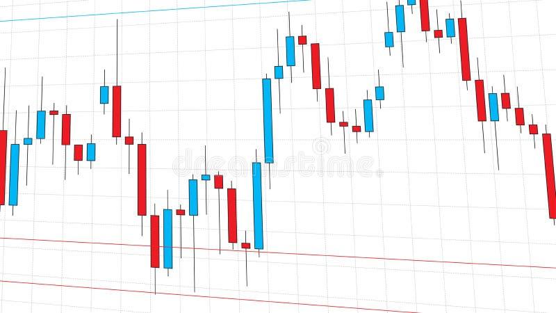 Diagram för ljusstake för börsmarknad royaltyfri illustrationer