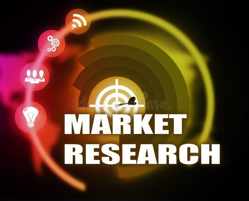 Diagram för plan för begrepp för marknadsforskning vektor illustrationer