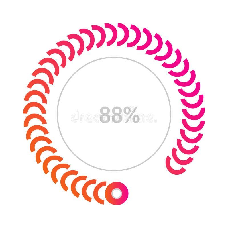 diagram för 88 procent affärspaj som är infographic för rapporter och presentationer vektor illustrationer