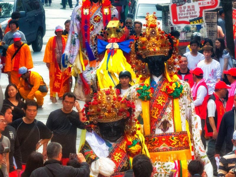Diagram för procession Taiwan Taipei för religiös festival royaltyfri fotografi