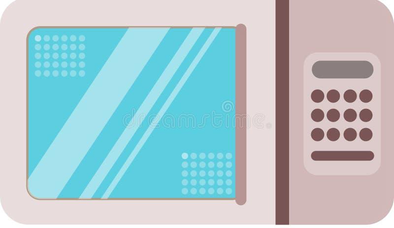 Diagram för resurs för begrepp för mikrovågvektorillustration fotografering för bildbyråer