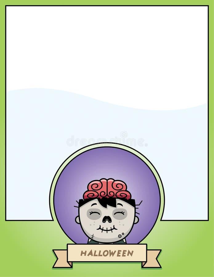 Diagram för tecknad filmlevande dödallhelgonaafton royaltyfri illustrationer