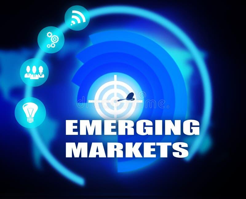 Diagram för tillväxtmarknadbegreppsplan stock illustrationer